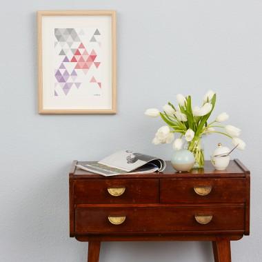 "Frau Schnobel Grafik Druck ""martinesk"" 21 x 30 cm grau – rot – lila"