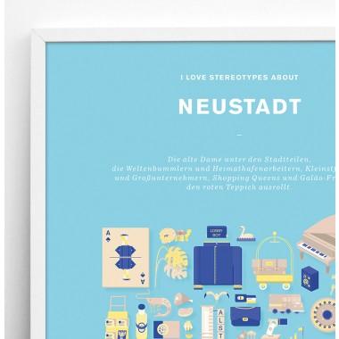 Bureau Bald Stadtteil Plakat Neustadt