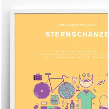 Stadtteil Plakat Sternschanze
