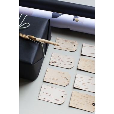 Geschenkanhänger mit Öse - Etiketten aus Birkenrinde - KURZ