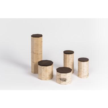 MOYA Nachhaltige Vorratsdosen aus Birkenrinde TUESA | 5er Set | plain edition