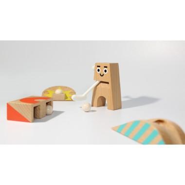 Mr. Woods - Minigolf Spielset mit 3 Holz-Bahnen von NEUE FREUNDE