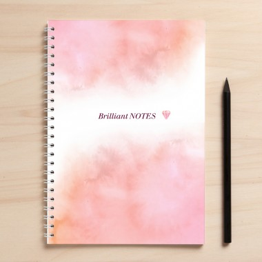 "A5 Notizbuch ""Brilliant Notes"" rosa"
