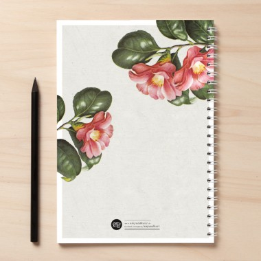 """Amy & Kurt Berlin A5 Notizbuch """"Notes02 Blüten"""""""