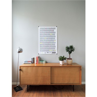 Bob And Uncle Design – Wandkalender – Now Is Better 2020 – Weiß – 680 x 1000 mm