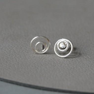 Ohrkreise Nr. 15 - margaritifera - Ohrstecker - Silber 925