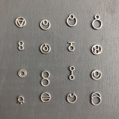 Ohrkreise Nr. 11 - margaritifera - Ohrstecker - Silber 925