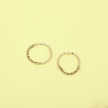 fejn jewelry - Ohrring 'circle chain'