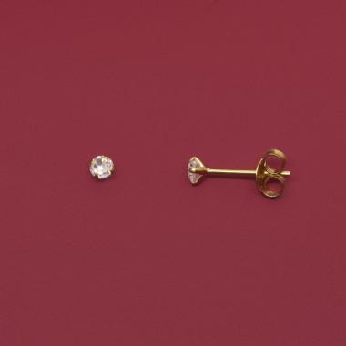 fejn jewelry - Ohrstecker 'ball stud shiny'