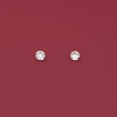 fejn jewelry - Ohrstecker 'ball stud shiny'