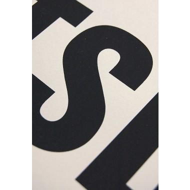 Buchstabenort Potsdam Stadtteile-Poster Typografie