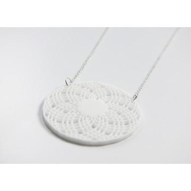 Theobalt.design Hypotrochoid Halskette weiß