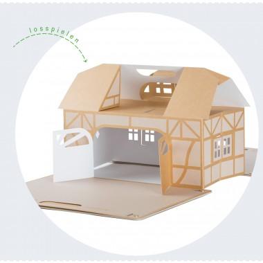 PAPPKA® Haus  Mach' was draus. Faltbares Spielhaus für mehr Kreativität und Platz im Kinderzimmer – natürlich aus stabilem Karton