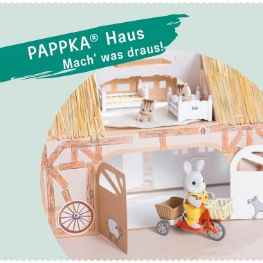 PAPPKA® Haus. Mach' was draus. Faltbares Spielhaus für mehr Kreativität und Platz im Kinderzimmer – natürlich aus stabilem Karton