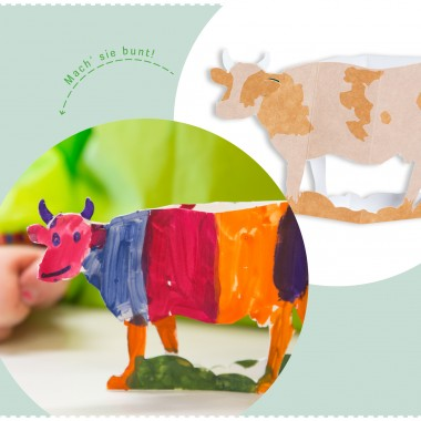 PAPPKA® Bastelbogen Tiere aus Karton – Deine Farm für die Handtasche