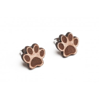 BeWooden Ohrringe - Ohrstecker aus Holz - Paw Earrings