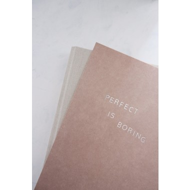 PERFECT IS BORING - A5 Print - Letterpress – Anna Cosma