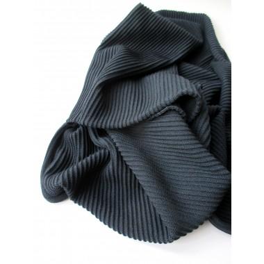 """PETERSEN Schal """"Little Seaside Waves"""", Merinowolle, dunkelblau, scarf"""