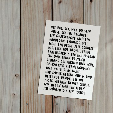 "Love is the new black – Postkarten Set ""Text"""
