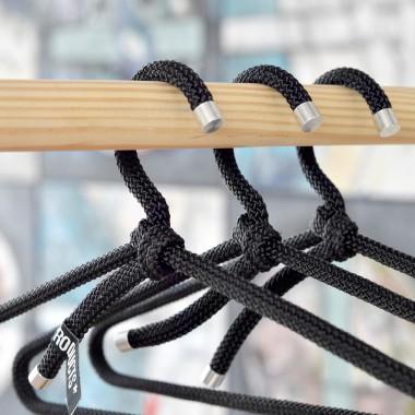 3x PEPPERMINT PRODUCTS Kleiderbügel aus Seil - Farbig