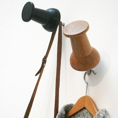 NETTESHEIMDESIGN – XXL Holz Pinnadel // Garderobe // Wandhaken // Eiche // 3er Set