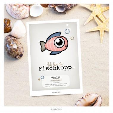 designfeder | Postkarte Fischkopp