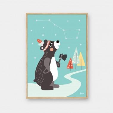 NACHTLEUCHTENDES Poster Großer Bär