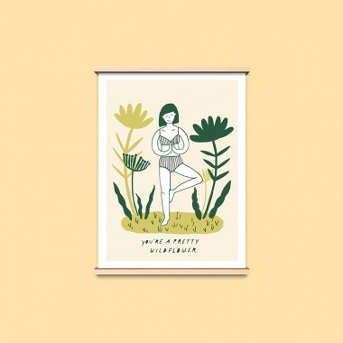 """Notietzblock Poster """"You're a pretty wildflower"""", A3"""