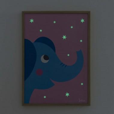 Poster nachtleuchtend