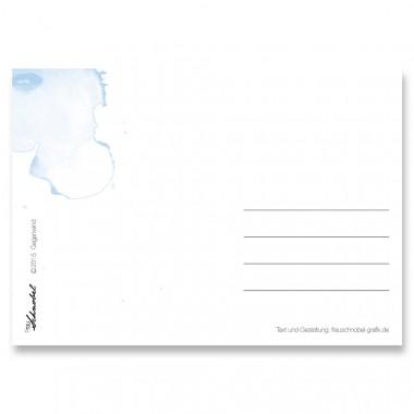 "Frau Schnobel Grafik Postkarte ""Gegenwind"" 4er-Set"
