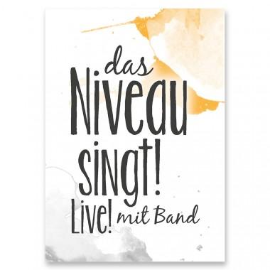 "Frau Schnobel Grafik Postkarte ""Niveau"" 4er-Set"