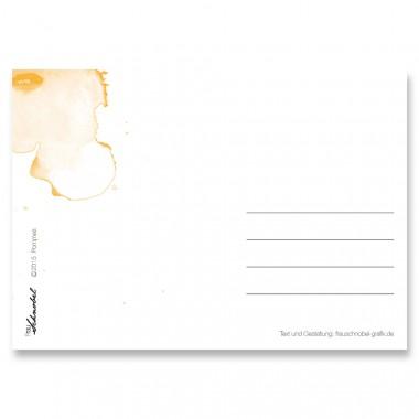 "Frau Schnobel Grafik Postkarte ""Pommes"" 4er-Set"