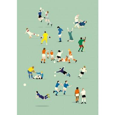 """""""Legenden"""" Fußballplakat von HANDS OF GOD"""