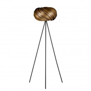 Tripod-Stehleuchte - Kollektion 'Quiescenta' aus geräuchertem Nussbaum
