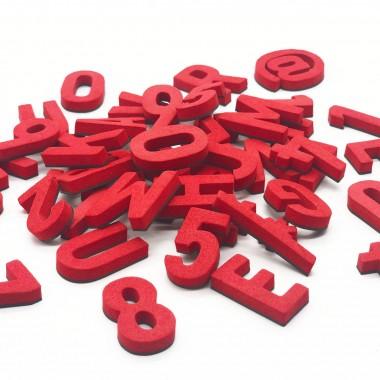 Set mit 200 Magnetbuchstaben, Zahlen & Sonderzeichen. RAKETEN ROT!