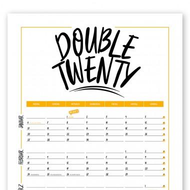 "Rapü Design Jahresplaner 2020 ""Double Twenty"" | Wendekalender"