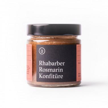 Essen für uns - Rhabarber Rosmarin Konfitüre (180g)
