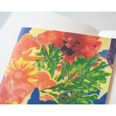 Notizheft A5 Riso flowers // Papaya paper products