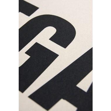 Buchstabenort Stuttgart Stadtteile-Poster Typografie