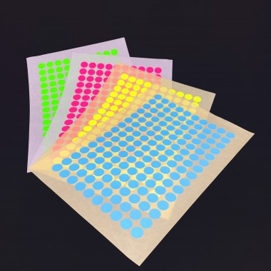 PAPER STICKY DOTS / For NOW IS BETTER Calendar / 4 sheets