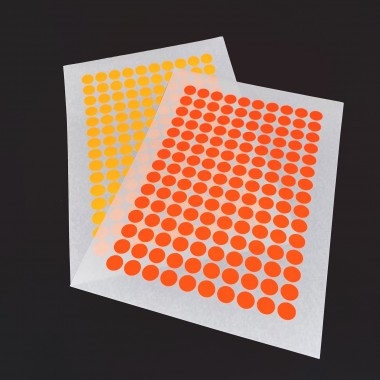 2 ADDITIONAL STICKY DOT COLOURS / For NOW IS BETTER CALENDAR / 4 sheets
