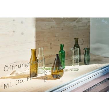 SAMESAME No 08/klar Karaffe aus Burgunderflasche mit Stülpbecher