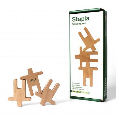 STAPLA - 12 Spielfiguren aus Buchenholz von Neue Freunde