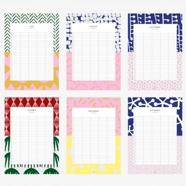 Familienkalender DIN A3 / Pattern