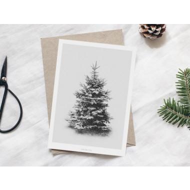 typealive / Weihnachtskarten 4er Set / Schneetanne