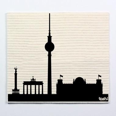 toshi Schwammtücher mit Aufdruck (4er Set Berlin 1)