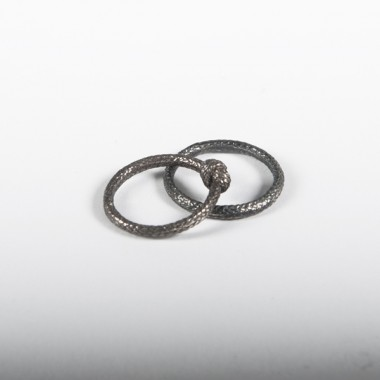 Seilring Silber geschwärzt einfacher Knoten