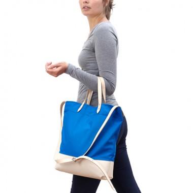 Luna Recyclingtasche  aus wiederverwendetem Markisentuch/Leder