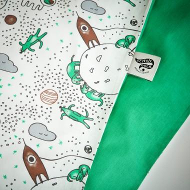 Schön, oder? Dackel im Weltall - Bettwäsche - 100 x 135 / 60 x 40 cm - White / Ming Green