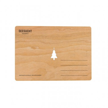 """Seesucht Manufaktur  Holzkarte """"Weihnachtsbaum"""""""